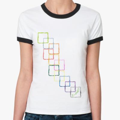 Женская футболка Ringer-T  'Узоры'