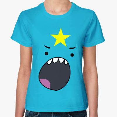 Женская футболка Принцесса Пупырка орет