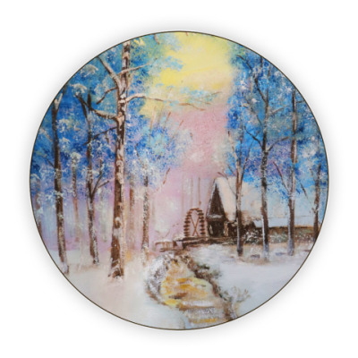 Костер (подставка под кружку) 'Зимняя сказка'