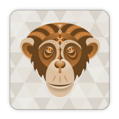 Костер (подставка под кружку) Год обезьяны
