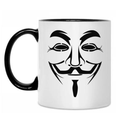 Кружка Маска Анонимуса