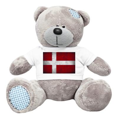 Плюшевый мишка Тедди Датский флаг