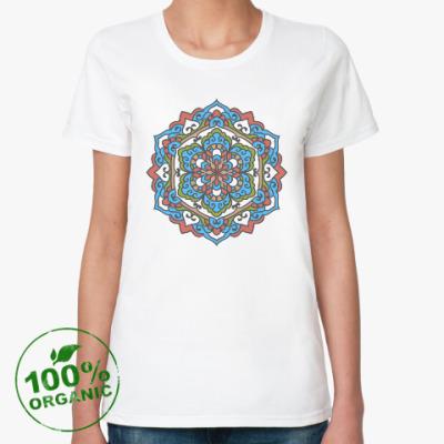 Женская футболка из органик-хлопка Мандала