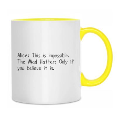 Кружка Алиса в стране чудес/ Alice in wonderland