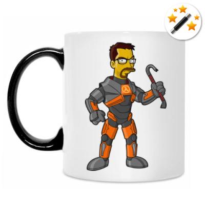 Кружка-хамелеон Half-Life (Симпсоны)