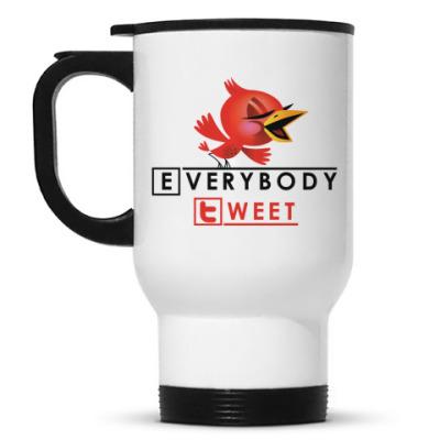Кружка-термос everybody tweet