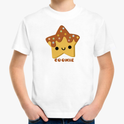 Детская футболка Печенька-звездачка