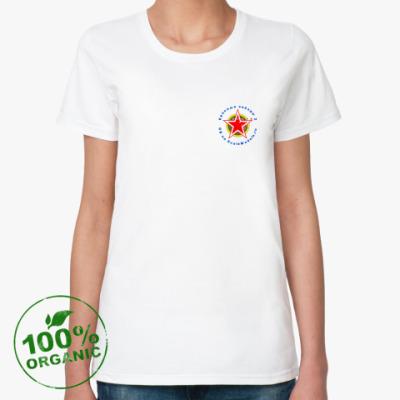 Женская футболка из органик-хлопка  RedStars 2 орг жен