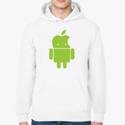 Толстовка худи Андроид голова-яблоко