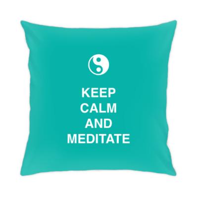Подушка Keep calm and meditate