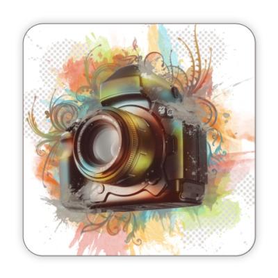 Костер (подставка под кружку) фотоаппарат