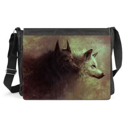 Сумка Волки