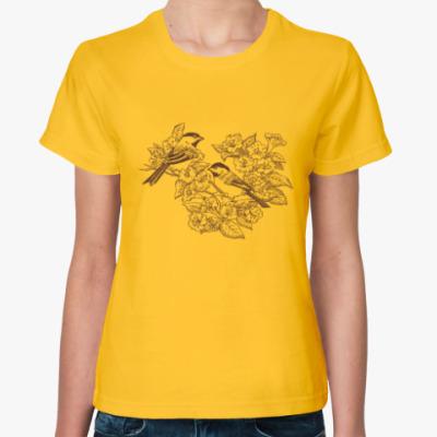 Женская футболка Vintage Bird Птица Винтаж