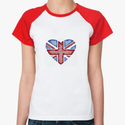 Женская футболка реглан  Жен. Англия
