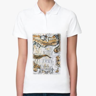 Женская рубашка поло  Алиса в Стране чудес