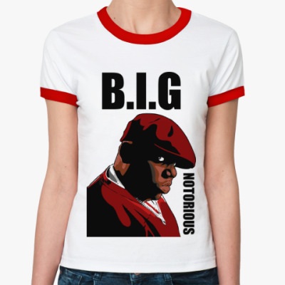 Женская футболка Ringer-T   B.I.G.