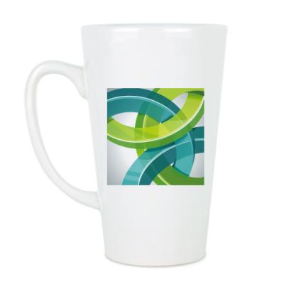 Чашка Латте Абстрактный символ