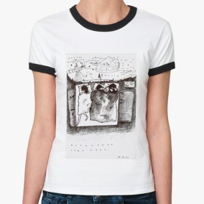 Женская футболка Ringer-T Богемушка отдыхает