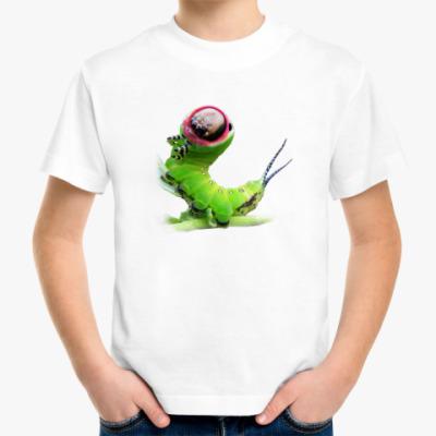 Детская футболка гусеница