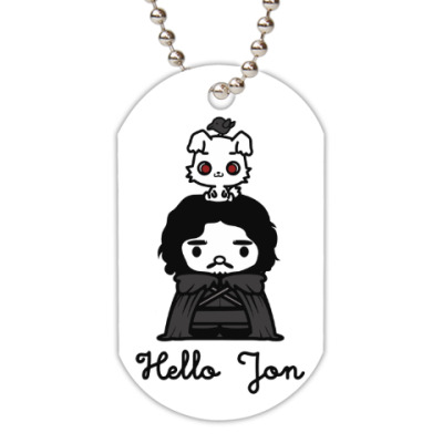 Жетон dog-tag Hello Jon