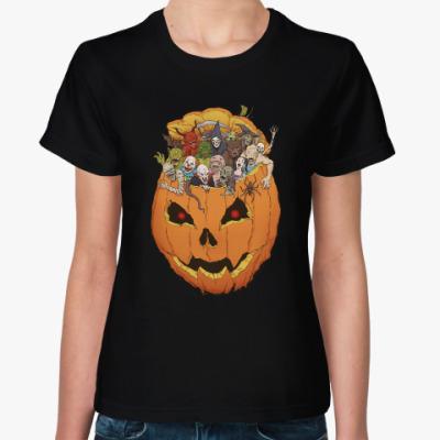 Женская футболка Хэллоуин Монстры