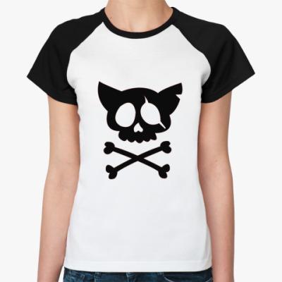 Женская футболка реглан Пираты рулят!