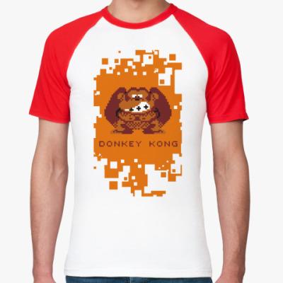 Футболка реглан Pixel Donkey Kong