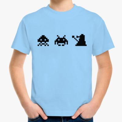 Детская футболка Dalek & Space Invaders