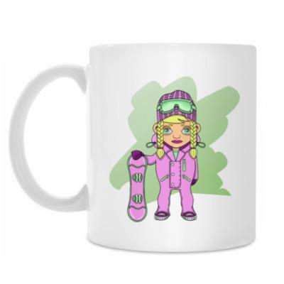 Кружка Девушка сноубордистка