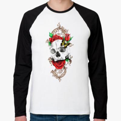 Футболка реглан с длинным рукавом Skull&Roses