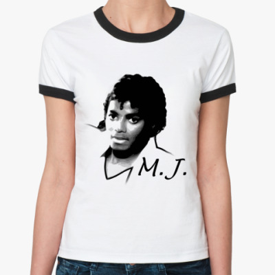 Женская футболка Ringer-T M.J.
