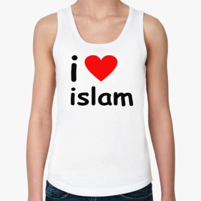 Женская майка Я люблю ислам!