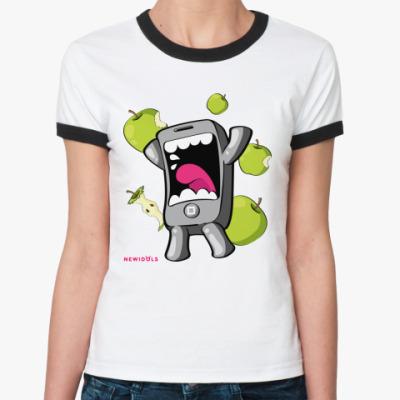 Женская футболка Ringer-T Phonchoponcho