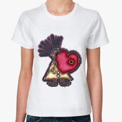 Классическая футболка Валентинка Любовь
