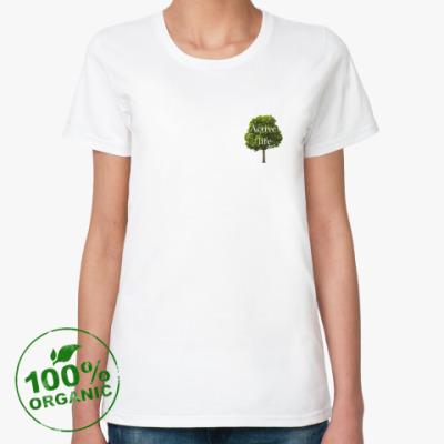 Женская футболка из органик-хлопка Active life