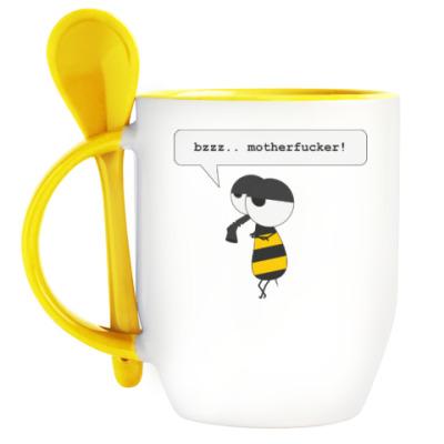 Кружка с ложкой Пчёл-меланхолик