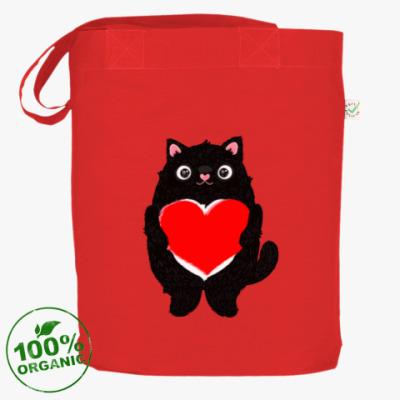 Сумка Кот и большое сердце