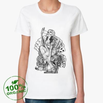 Женская футболка из органик-хлопка Santa Muerte