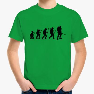 Детская футболка Эволюция черепашки