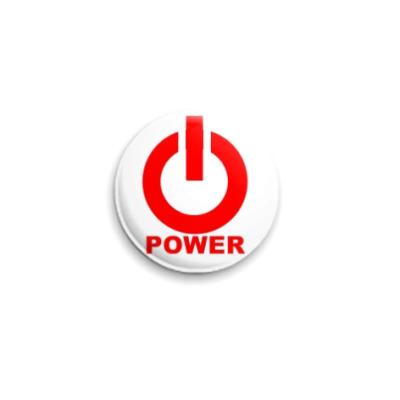 Значок 25мм  Power