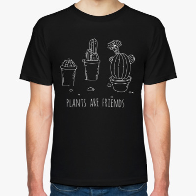 Футболка Plants are friends