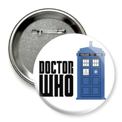 Значок 75мм TARDIS