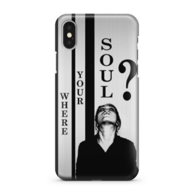 Чехол для iPhone X Where your soul?
