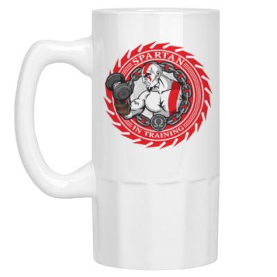 Пивная кружка Спартанцы тренируются