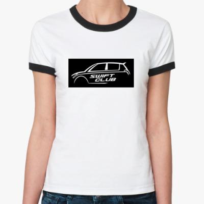 Женская футболка Ringer-T SwiftClub