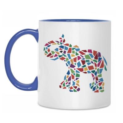 Кружка Слон - мозаика