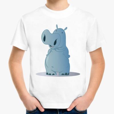 Детская футболка бегемотик
