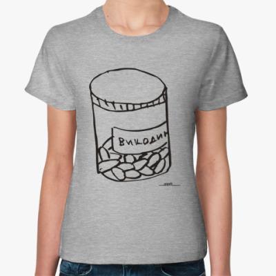 Женская футболка Викодин