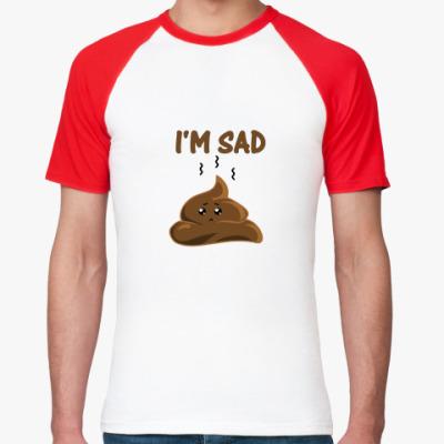 Футболка реглан I'm sad shit