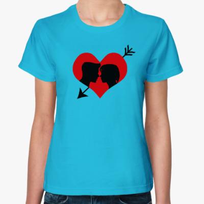 Женская футболка Сердце хочет любви
